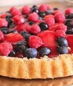 Low Carb Rezept - Beeren-Obstkuchen