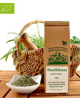 Bio Basilikum (gerebelte Blätter), Wurdies, Kräuter. 30g