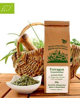 Bio Estragon (französischer), gerebelte Blätter, Wurdies, Küchenkräuter, 20g