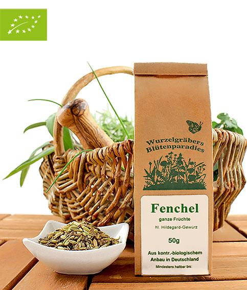 Bio Fenchel (ganze Früchte), Wurdies, Gewürze, 50g