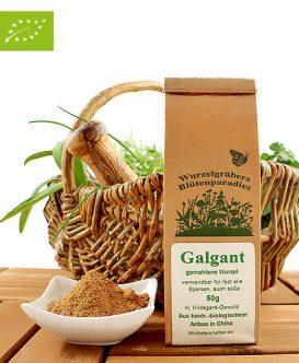 Bio Galgant (gemahlene Wurzel), Wurdies, Gewürze, 50g