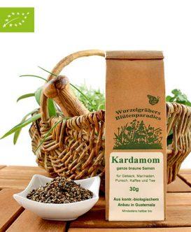 Bio Kardamom (ganze braune Samen), Wurdies, Gewürze, 30g