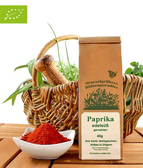 Bio Gewürz Paprika, edelsüß, gemahlen, 40g