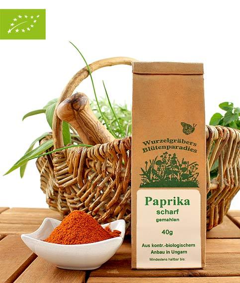 Bio Gewürz Paprika, scharf, gemahlen, 40g