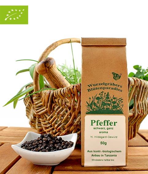 Bio Gewürze, Pfeffer, schwarz, ganz, aroma, 50g