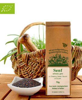 Bio Gewürz Senf, schwarz, ganz, Wurdies 70g