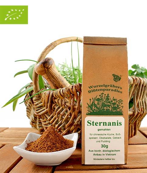 Bio Gewürz Sternanis, gemahlen, 30g