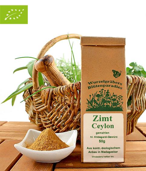 Bio Gewürz Zimt (Ceylon), gemahlen, 50g
