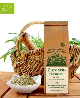Bio Zitronenthymian, gerebelt, Wurdies, Kräuter, 30g