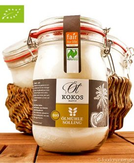 Kokosöl (nativ, fair), Ölmühle Solling, 1000ml, Bio