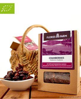 Premium Bio Cranberries, Flores Farm, 100g