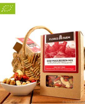 Premium Bio Goji-Maulbeeren-Mix, Flores Farm, 100g