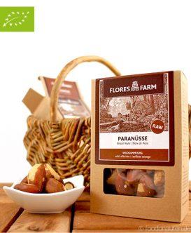 Premium Bio Paranüsse, Flores Farm, 100g