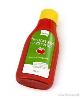 Tomatenketchup nur mit Xylit gesüßt, Xucker, 500ml