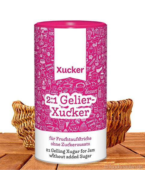 Xucker - 2:1 Gelier-Xucker, Fruchtaufstriche ohne Zuckerzusatz, 1kg
