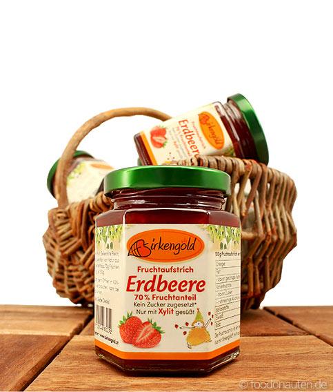 Fruchtaufstrich Erdbeere mit Xylit gesüßt (Birkengold)