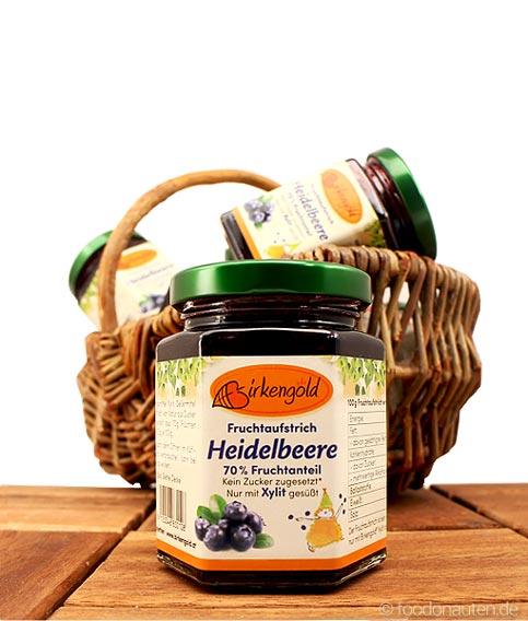 Fruchtaufstrich Heidelbeere mit Xylit gesüßt (Birkengold)