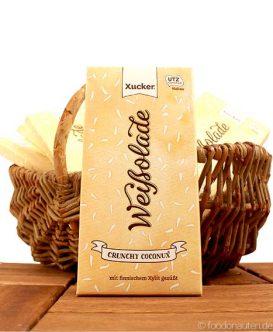 Schockolade Crunchy-Coconux mit Xylit gesüßt, Xucker