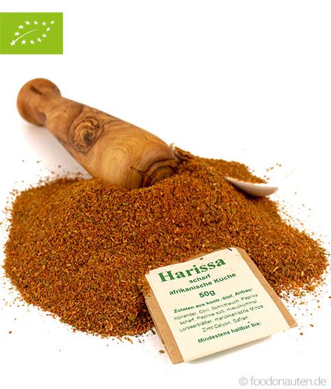 Bio Gewürz Harissa, (scharf, afrikanische Küche), kbA