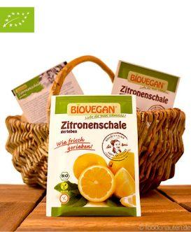Bio Zitronenschale, gerieben (Zitronenabrieb), Biovegan