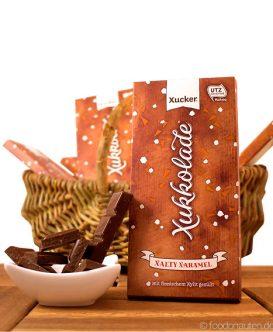 Xukkolade, Xalty Xaramel (Salz-Karamell-Schokolade mit finnischem Xylit gesüßt), Xucker