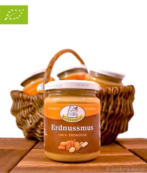 Bio Erdnussmus (Nussmus), Eisblümerl, 250g, (Vegan und Vegetarisch)
