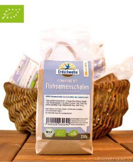 Bio Flohsamenschalen (gemahlen & glutenfrei), Erdschwalbe, 250g