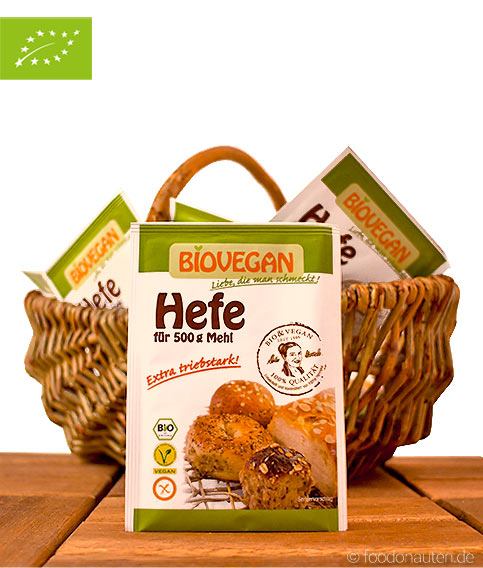 Bio Hefe (Frischhefe getrocknet), Biovegan, 9g
