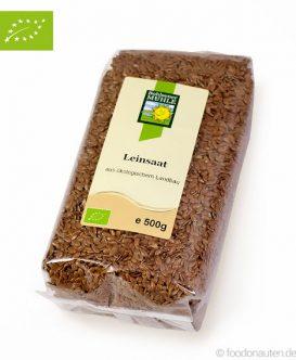 Bio Leinsamen, braun, (Leinsaat), Ökologischer Landbau, Bohlsener Mühle