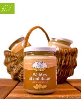 Weißes Mandelmus (Mandelmus aus blanchierten Mandeln), Eisblümerl, 250g
