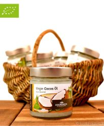 Bio Kokosöl (Kokosfett), kaltgepresst, nativ, Virgin-Cocos-Oil, Cosmoveda, 170ml