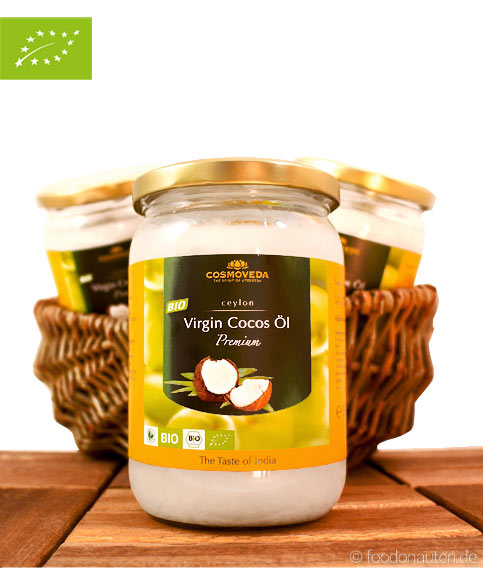 Bio Kokosöl (Kokosfett), kaltgepresst, nativ, Virgin-Cocos-Oil, Cosmoveda, 550ml