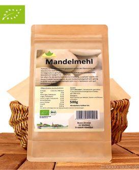 Bio Mandelmehl (Low Carb & kohlenhydratarm), 500g, teilentölt, Mittel zum Leben