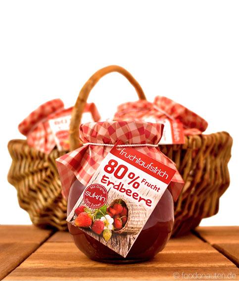 Erdbeer-Fruchtaufstrich ohne Zucker, (Sukrin statt Zucker), 260g