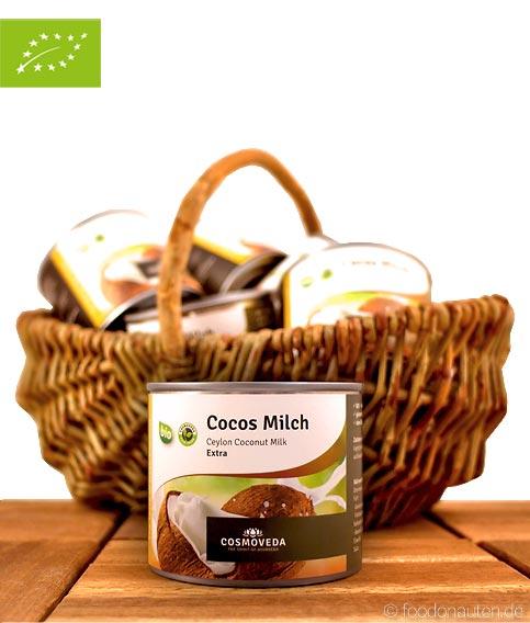 Premium Bio Kokosmilch, (Praktische Portionsgröße), Cosmoveda, 200ml