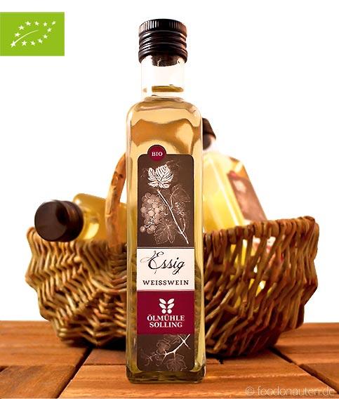 Bio Weißweinessig, aus traditioneller Herstellung, Ölmühle Solling, 250ml