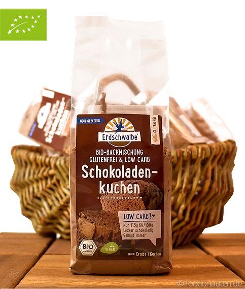 Low Carb Schokoladenkuchen (Low Carb Bio Backmischung), glutenfrei, Erdschwalbe, 160g