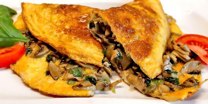 Low Carb Rezept   Champignon-Omelett