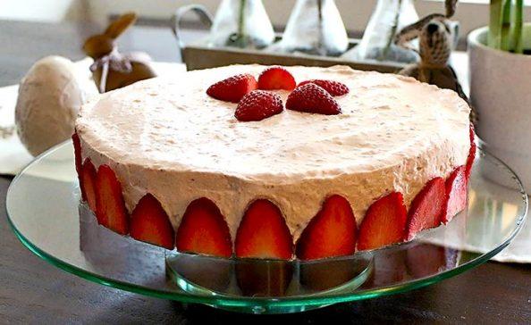 Low Carb Rezept | Erdbeer-Mascarpone-Torte
