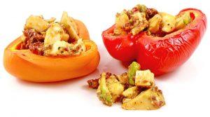 Low Carb Rezept | Gegrillte Paprika mit kaltem Avocadosalat