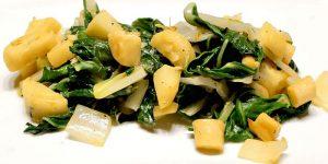 Low Carb Rezept - Mangoldgemüse mit Petersilienwurzel
