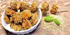 Low Carb Rezept   Sesam-Puten-Häppchen