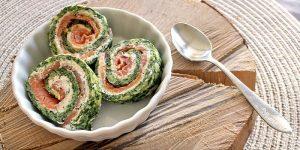 Low Carb Rezept | Spinat-Lachs-Dill-Rolle