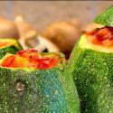 Low Carb Rezept | Gefüllte Rondini (runde Zucchini)