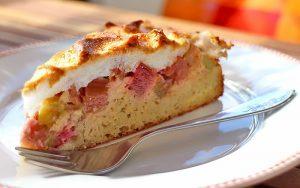 Low Carb Rezept | Rhabarber-Baiser-Kuchen