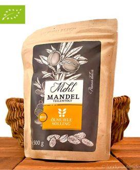 Mandelmehl, teilentölt (Ölmühle Solling), 500g, Bio-Qualität