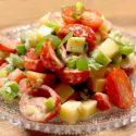 Low Carb Paprika Käse Salat
