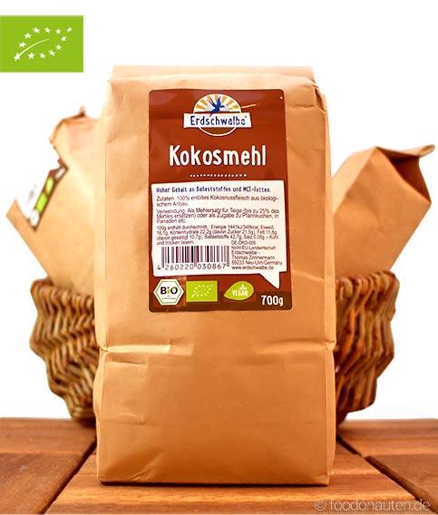 Bio Kokosmehl (Entölt und Glutenfrei), Erdschalbe, 700g