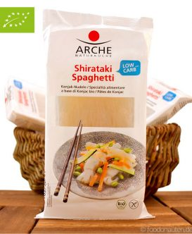 Bio Shirataki Spaghetti, Konjak Nudeln, Low Carb, 150g, Arche Naturküche