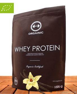 Bio Vanille Eiweißpulver (Molkeprotein ohne Zusatzstoffe), 1000g, Orgainic